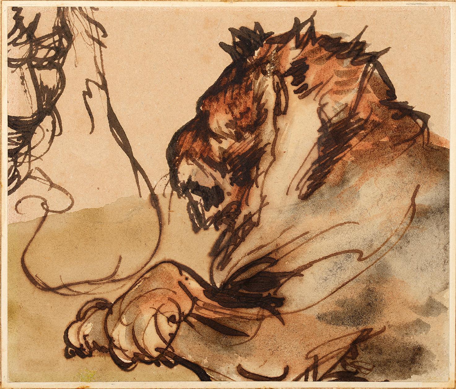 TEFAF 2018 Théodore Géricault, Study of a Lion (Studio di un Leone) del 1791