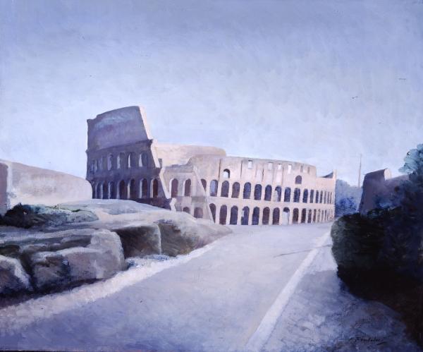 Francesco Trombadori, Il Colosseo, 1958, olio su tela, Galleria d'Arte Moderna di Roma