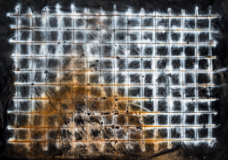 Valentina Palazzari_Senza titolo_2017_ruggine e colore acrilico su plastica_200x300cm_Foto Sebastiano Luciano_Courtesy MLZ Art Dep