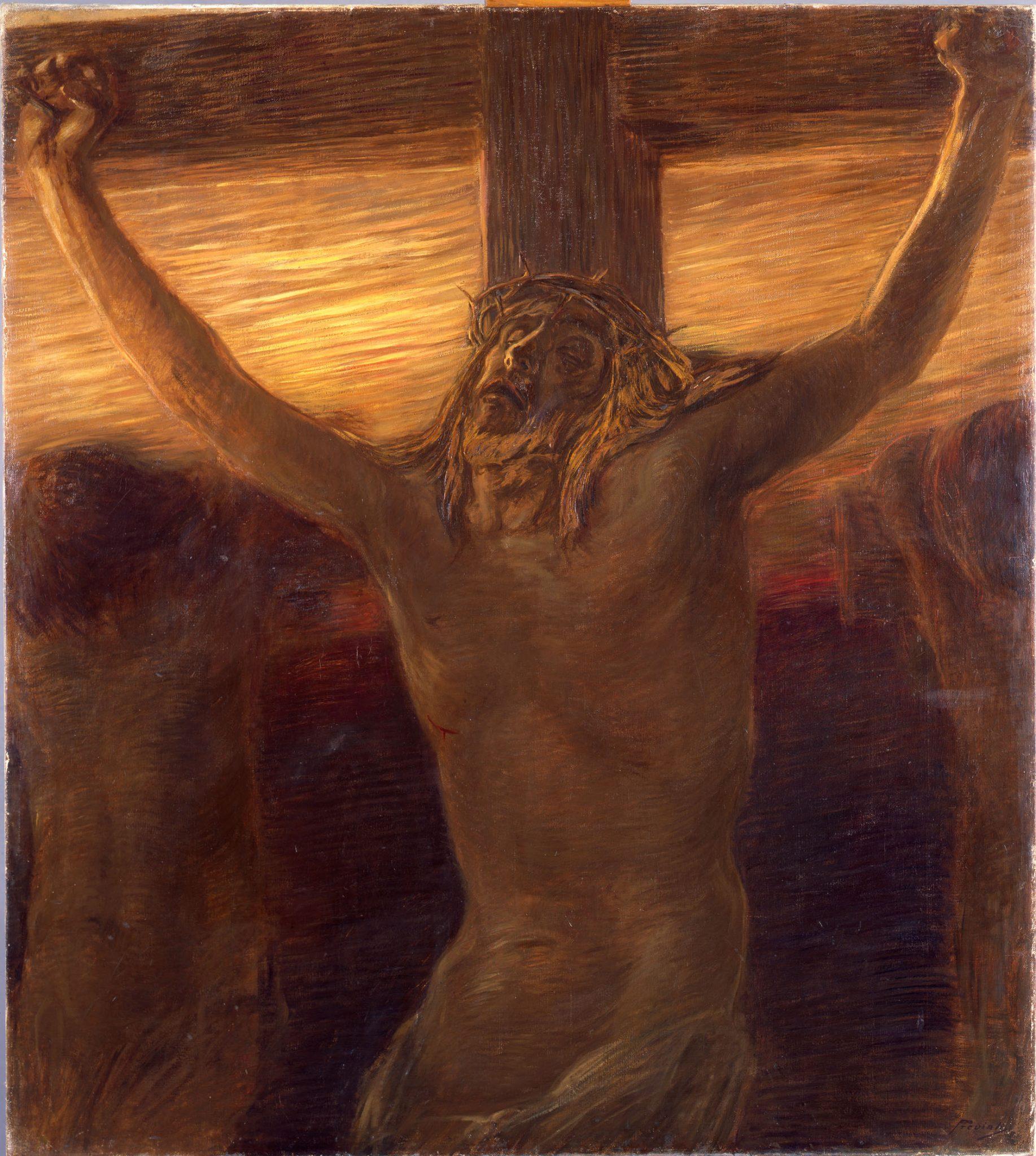 Gaetano Previati, Via Crucis, XII stazione, 1901-1902, olio su tela, 121 × 107 cm, Musei Vaticani, Collezione d'Arte Contemporanea. Foto © Musei Vaticani