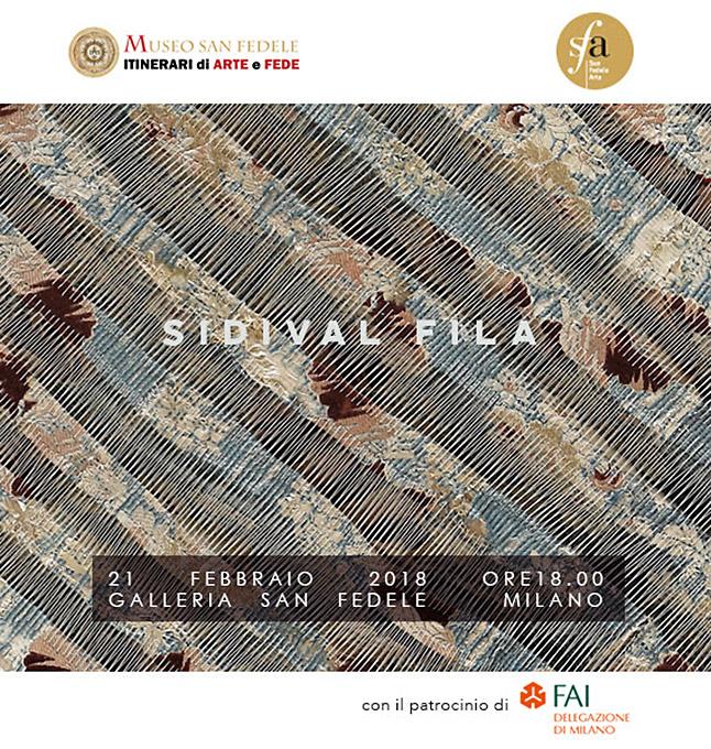 """Cover mostra """"Il filo della Grazia"""" di Sidival Fila"""