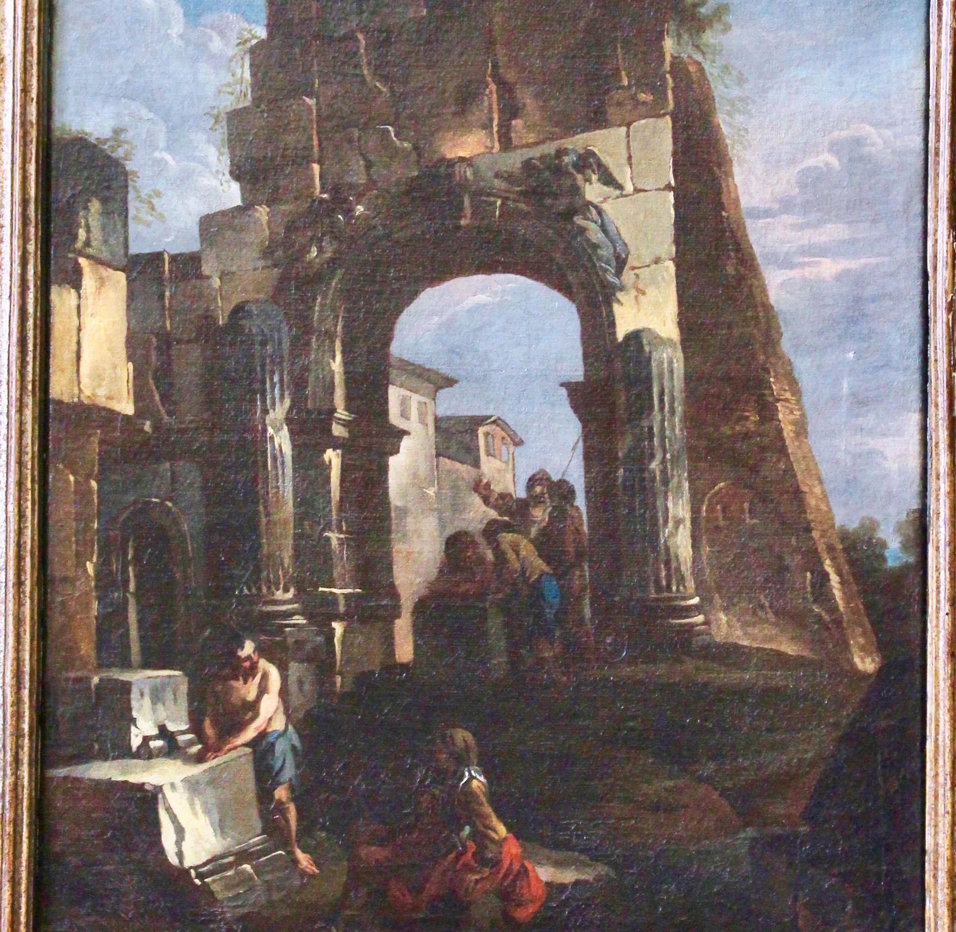 """Recuperato il """"Capriccio Architettonico con astanti"""", capolavoro del vedutismo italiano del '700. Grazie al lavoro del Comando Carabinieri TPC"""