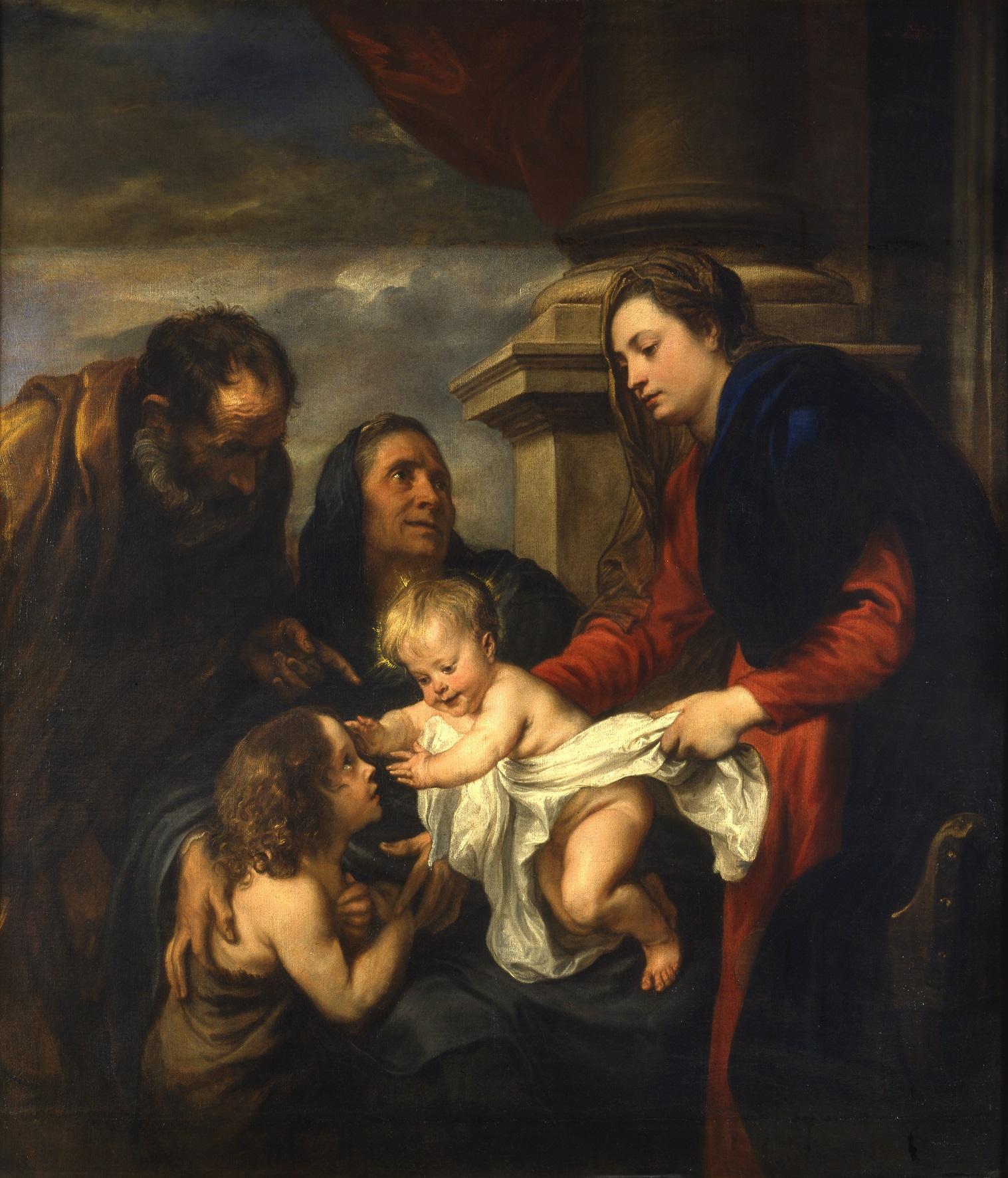 ANTON VAN DYCK (Anversa 1599 – Londra 1641) Sacra Famiglia con san Giovannino e sant'Elisabetta Olio su tela, 155 x 142 cm Torino, Galleria Sabauda