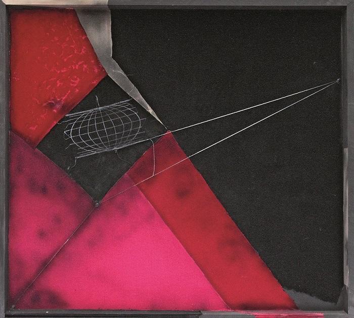 Maria Lai Geografia 2010 stoffe e filo su legno Lanusei (Nuoro), Archivio Maria Lai