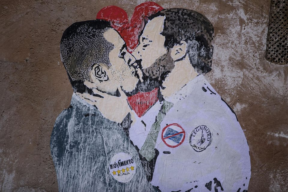Murale Tvboy Di Maio Salvini