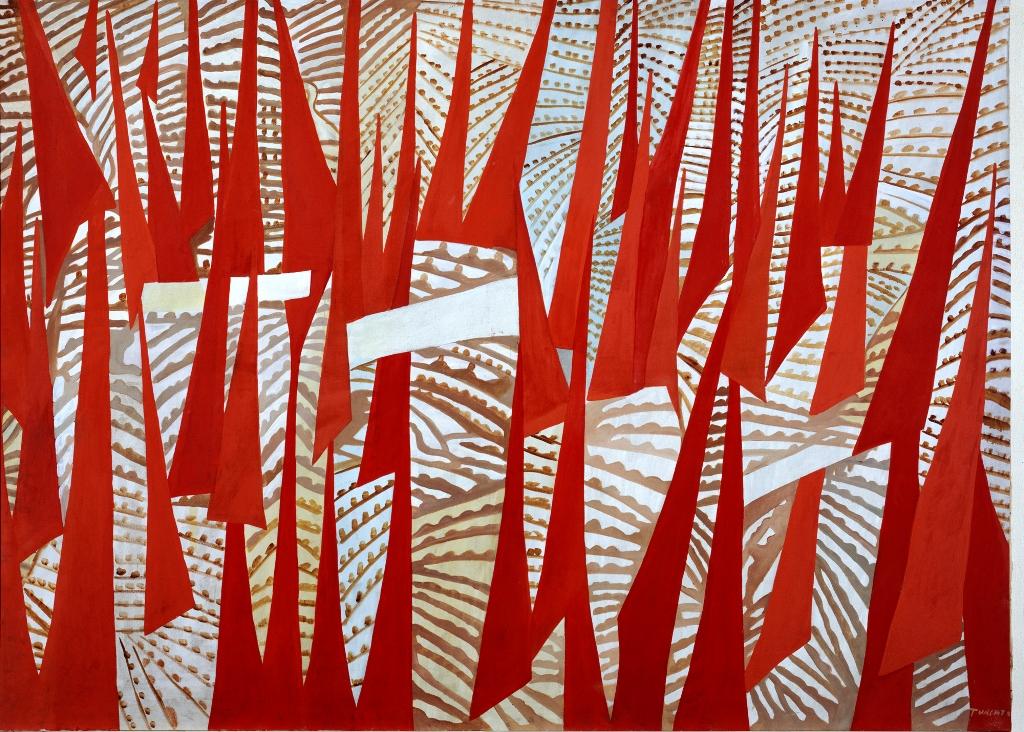 Giulio Turcato Comizio 1950 Roma Galleria d'Arte Moderna © Roma Capitale Sovrintendenza Capitolina ai Beni Culturali Ph. Schiavinotto Giulio Turcato by SIAE 2018