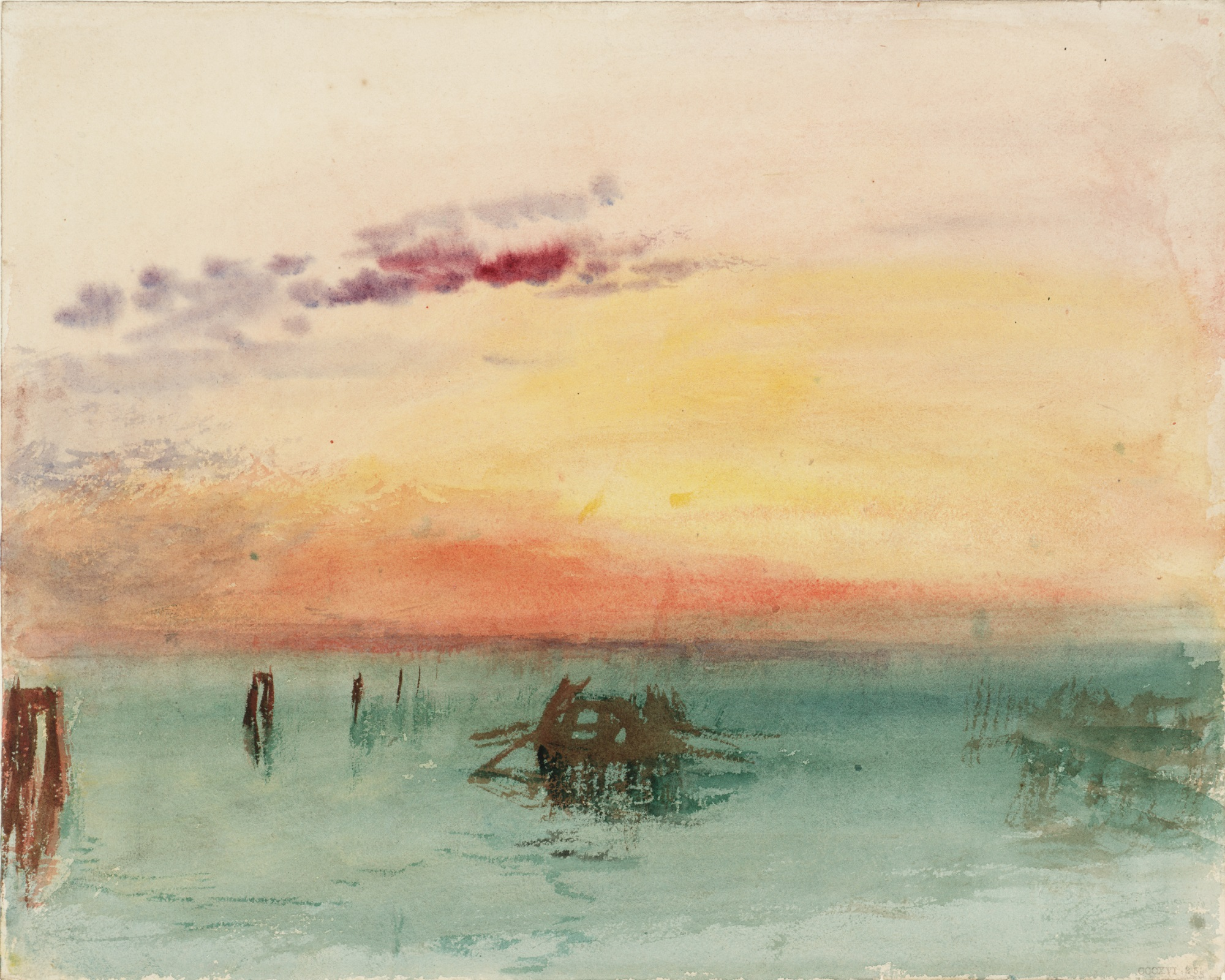 Paesaggio lagunare dipinto da Turner