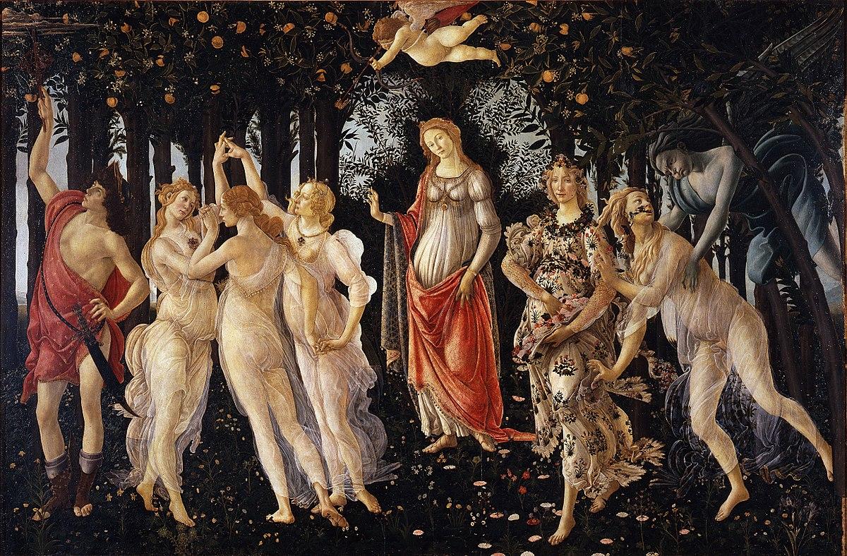 La primavera di Sandro Botticelli, agli Uffizi