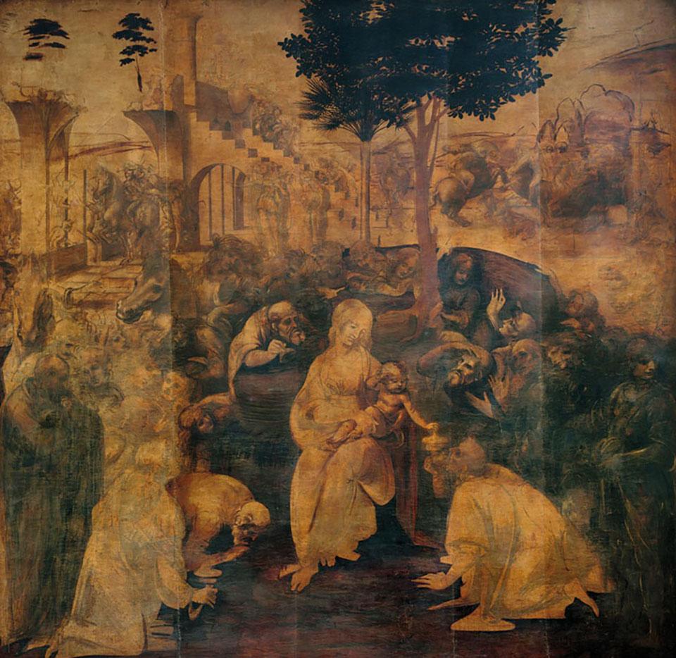 Leonardo Da Vinci, l'Adorazione dei Magi