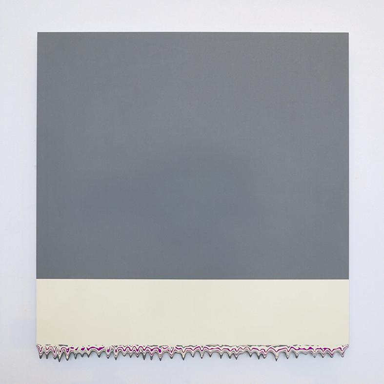 Michael Craik, scape 2016, acrylic on aluminium, 60cmx62cm, Theca Gallery Milano