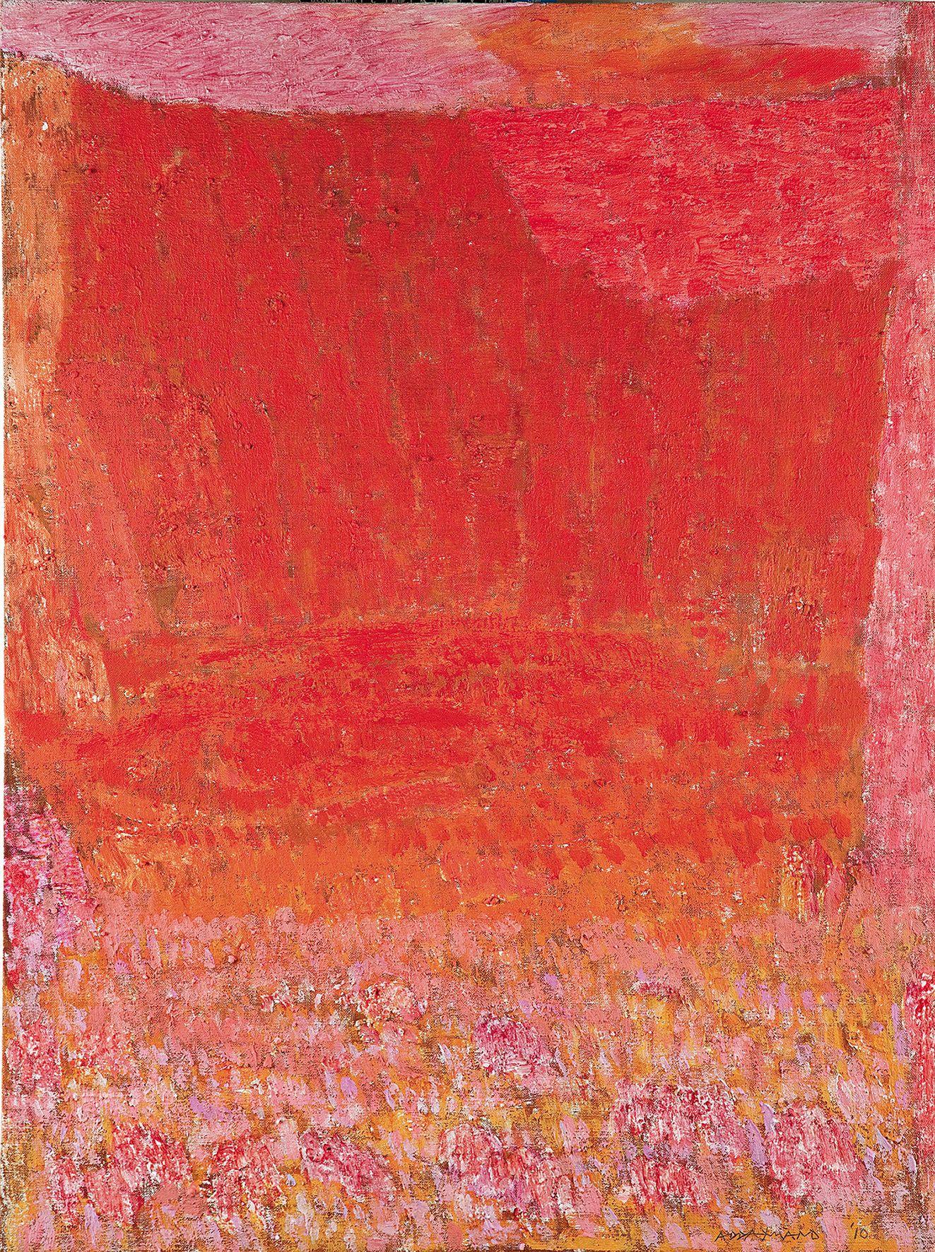 Natale Addamiano, La gravina (tramonto), 2010, olio su tela, 80x60 cm
