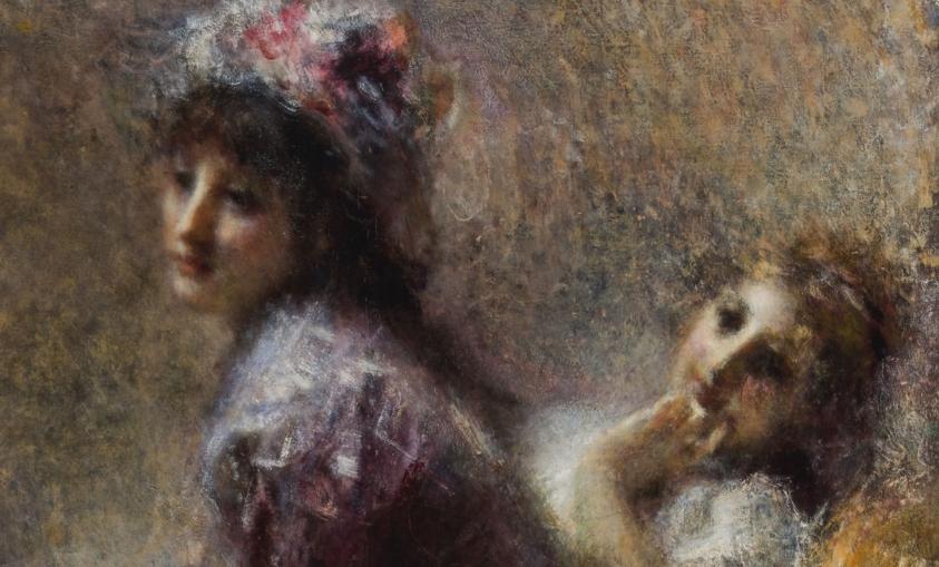 Tranquillo Cremona, In ascolto, 1874-1878 (particolare)
