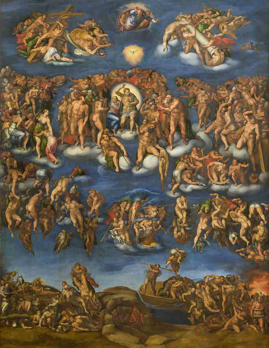 Marcello Venusti, Giudizio Universale, tempera grassa su tavola, The Museum of Fine Arts, Houston