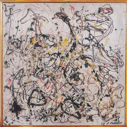 Jackson Pollock, No. 16., 1950, oil, 22 1/2 x 22 1/2