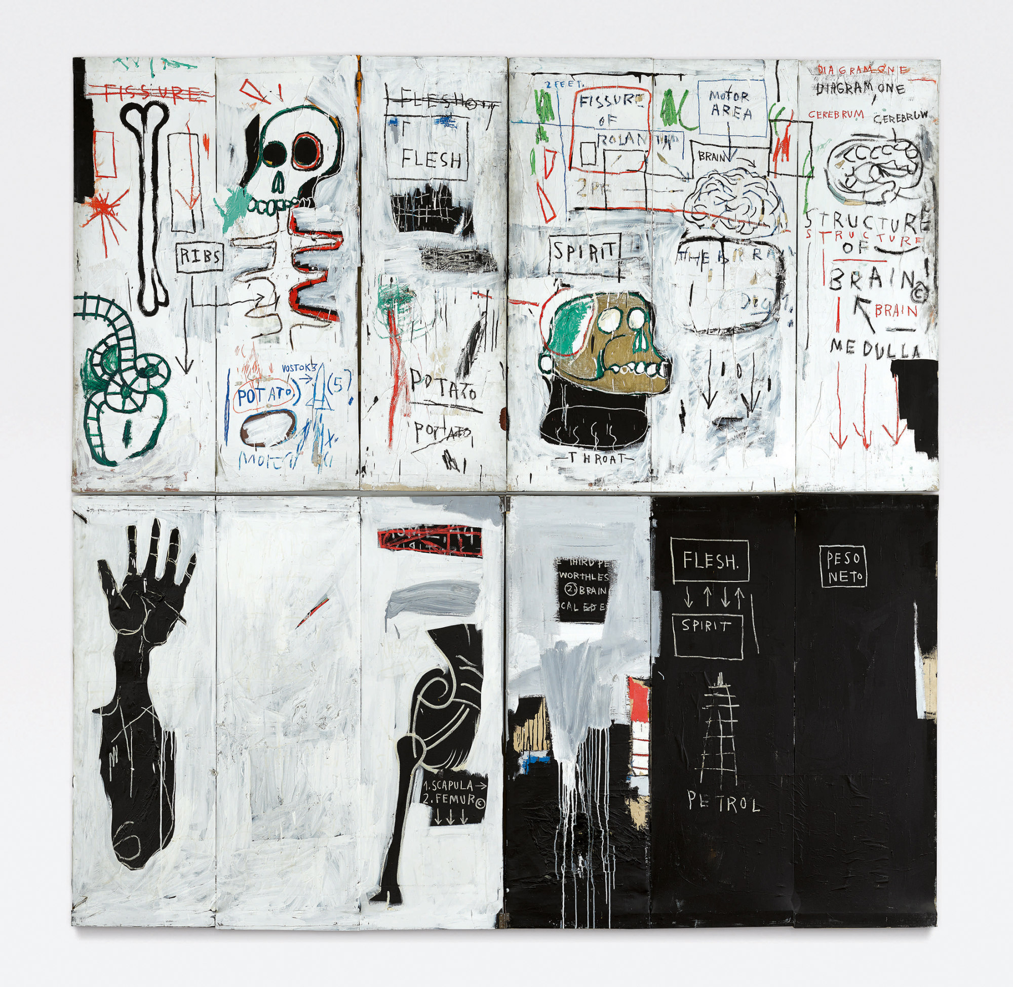 Flesh and Spirit di Jean-Michel Basquiat