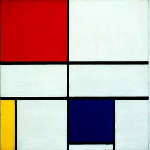 Piet Mondrian, Composition with red, yellow and blue, 1935