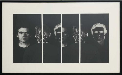 Aldo Tagliaferro l'IO RITRATTO, 1977. riporto fotografico su tela emulsionata, cm. 54 x 87,5