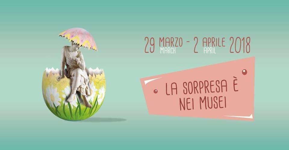 Domenica di Pasqua musei gratuiti - locandina evento