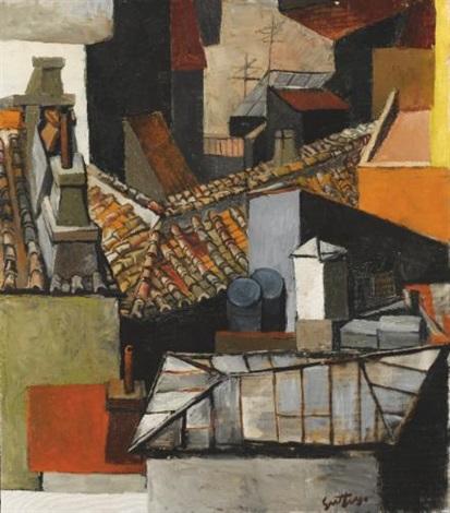Renato Guttuso (1912 - 1987) Tetti di Roma, 1964