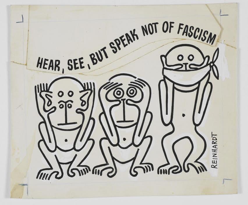 Contro le ingiustizie e i fascismi. Tra arte, fumetto e satira: Ad Reinhardt a Modena
