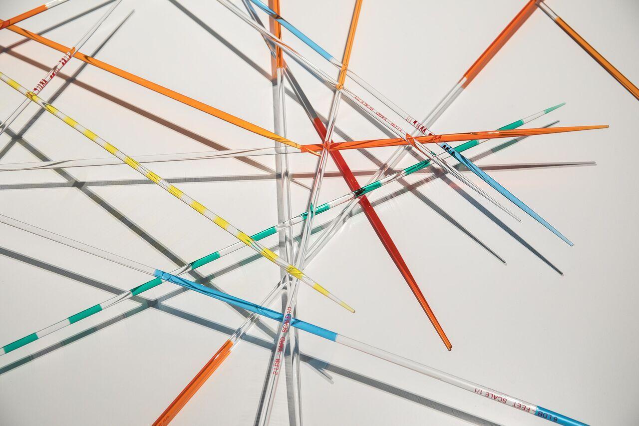 Lieven De Boeck, Mikado LBD Modulor (detail), installation view, ph. Enrico Fiorese