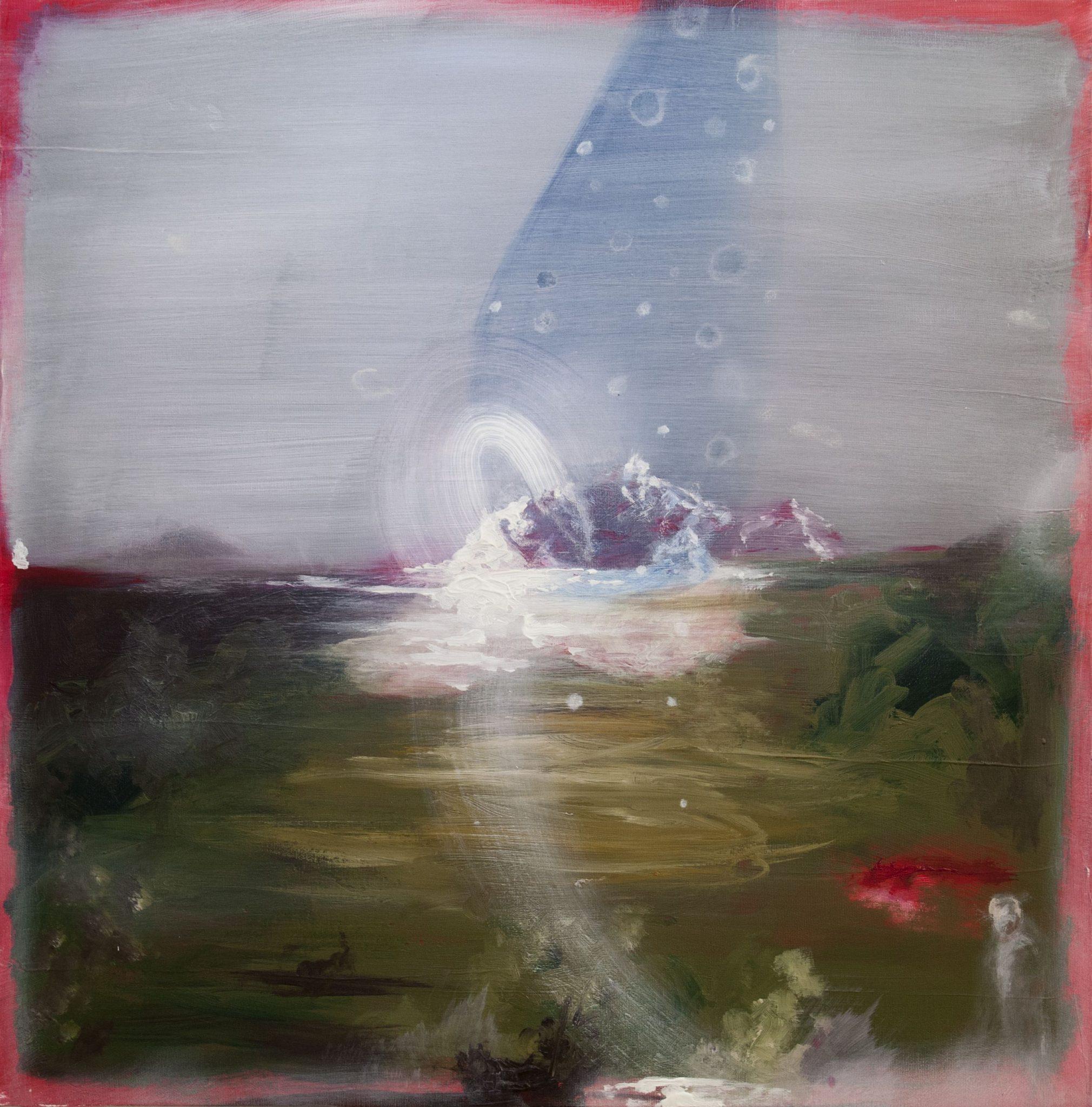 """Angelo Bellobono, """"Terra mossa"""" 2017, acrilico e olio su tela 70x70cm, """"Marka"""""""