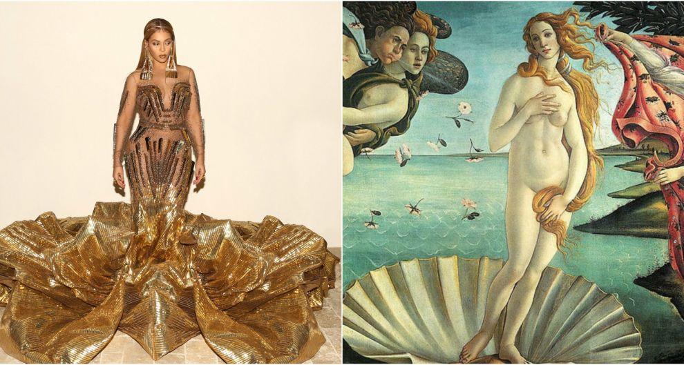 Beyoncé e la Venere di Botticelli. Le coppie improbabili di Tabloid Art History