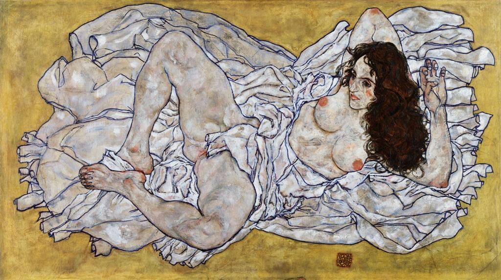 Egon Schiele - Donna sdraiata, 1917 Leopold Museum, Vienna Ph. Manfred Thumberger