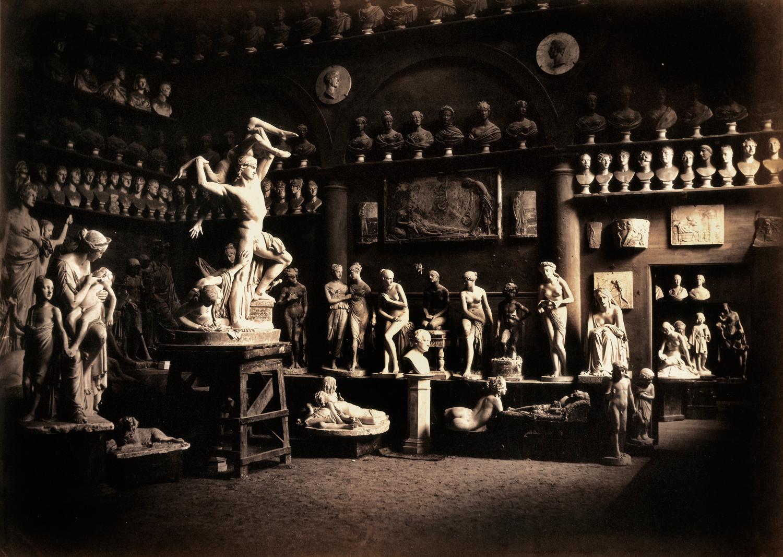 Firenze. Studio dello scultore Lorenzo Bartolini, 1856-57, Archivi Alinari, Firenze