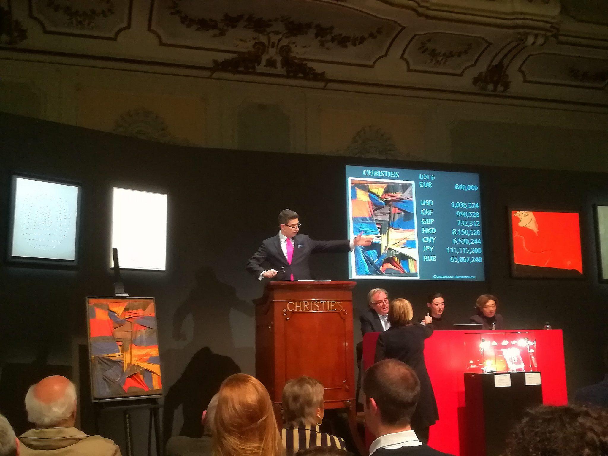 14,7 mln € e nuovi record per l'asta Christie's 'Milan Modern and Contemporary Art'