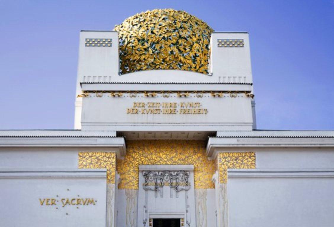 La celebre cupola dell'edificio della Secessione, a Vienna