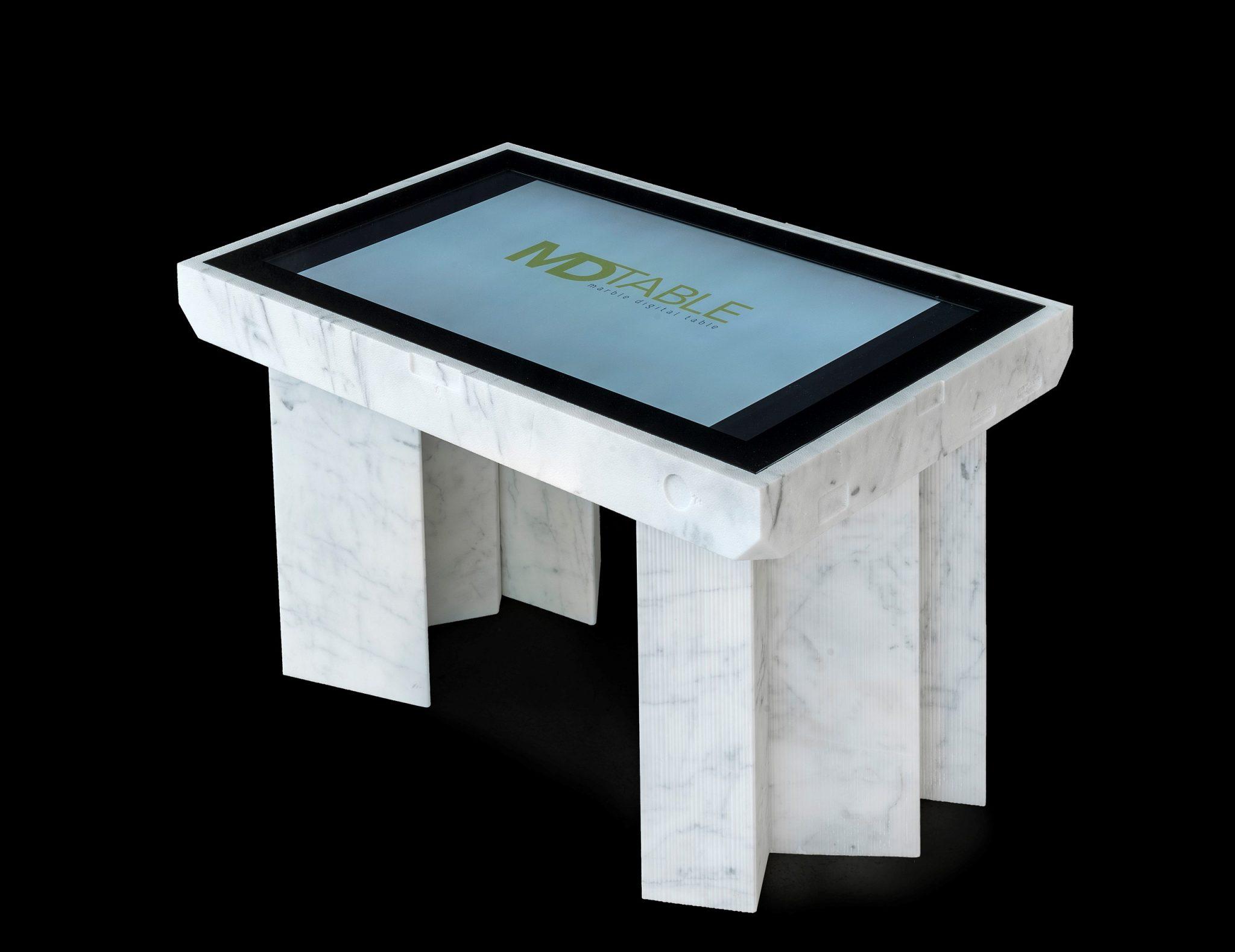 D Table in edizione (speciale). Touchscreen di marmo. Il nuovo progetto di Robot City a Milano