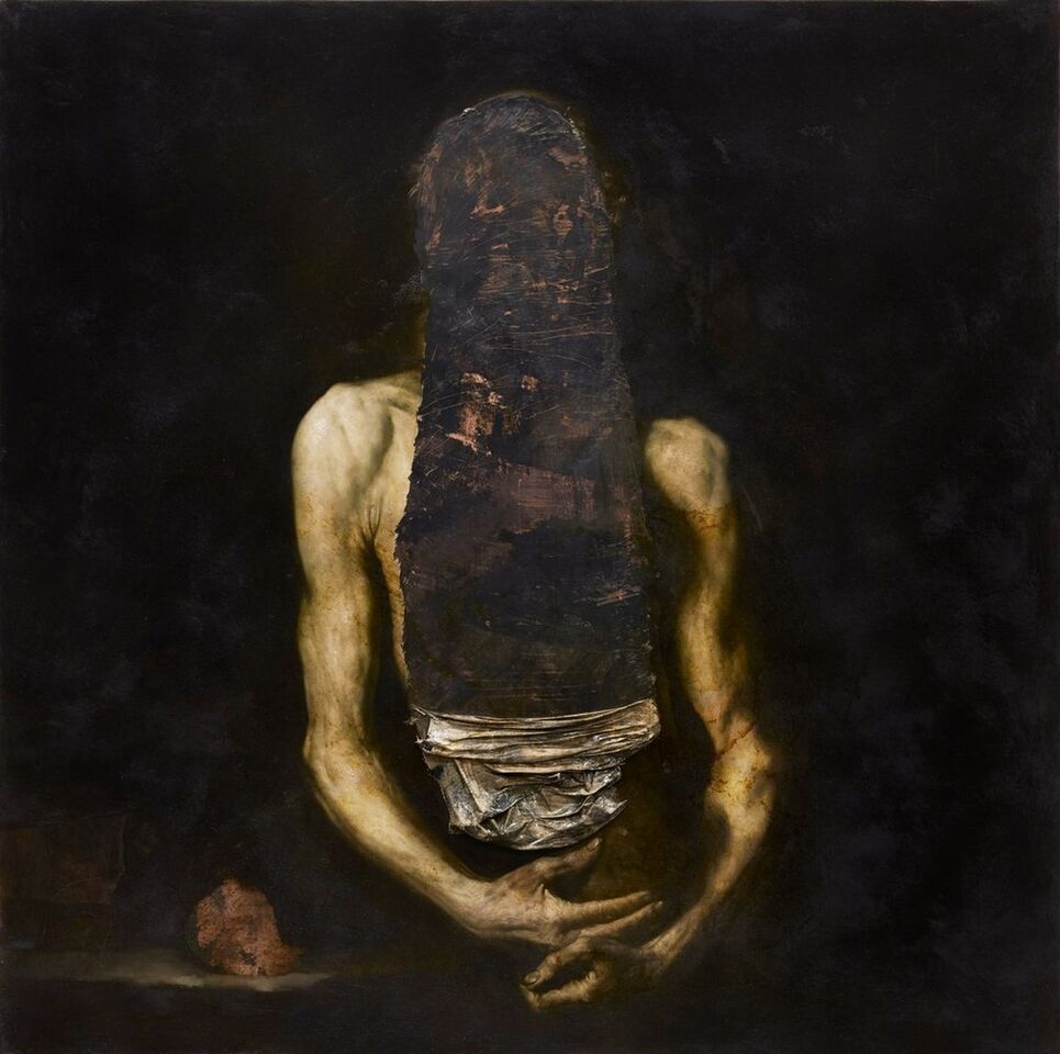 Nicola Samorì, _Il digiuno_, olio su rame, 2014, cm 100 x 100, foto Daniele Casadio_preview