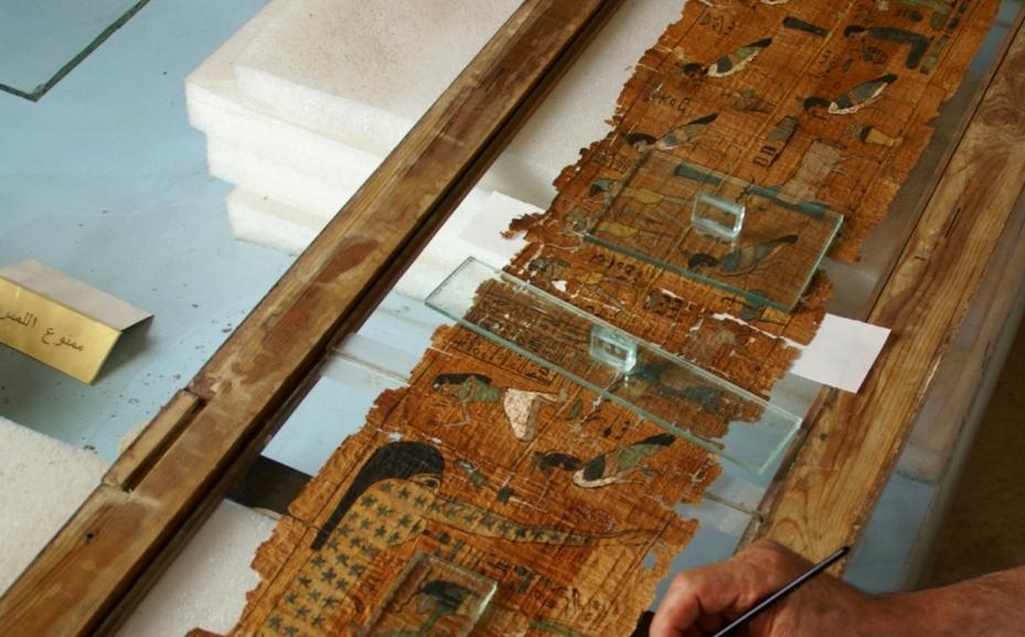 Papiri al Museo Corrado Basile di Siracusa