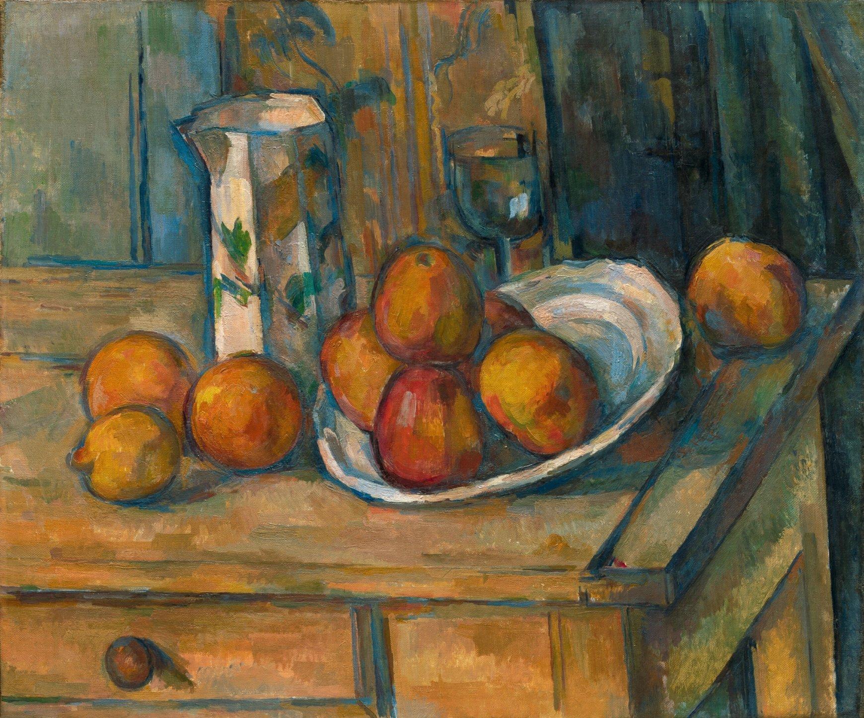 Paul Cézanne - Nature morte avec du lait et des fruits, National Gallery, Washington