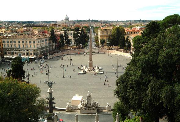 Internazionali tennis a Piazza del Popolo