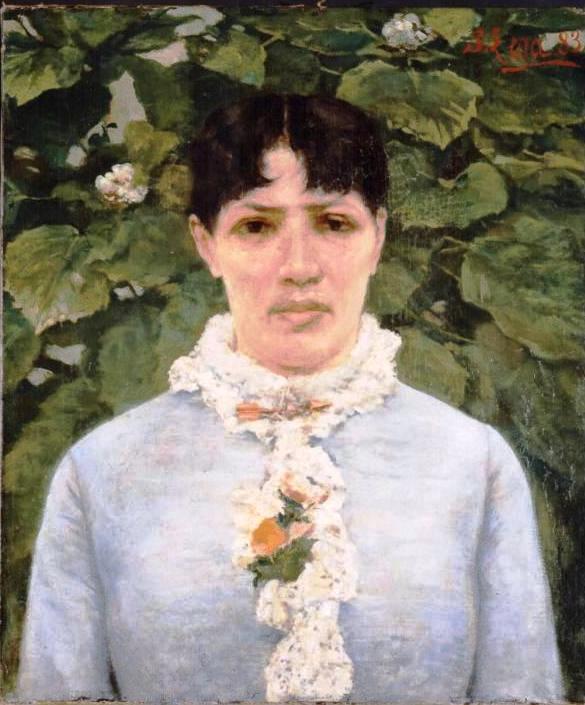 Silvestro Lega, Ritratto di signora in Giardino, 1883
