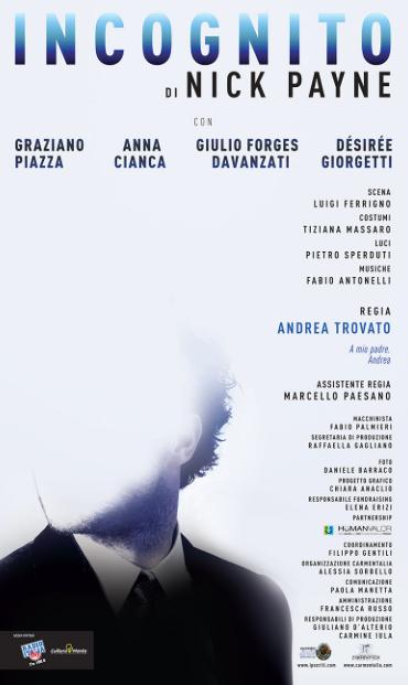 Incognito: il cervello protagonista al Teatro della Cometa di Roma
