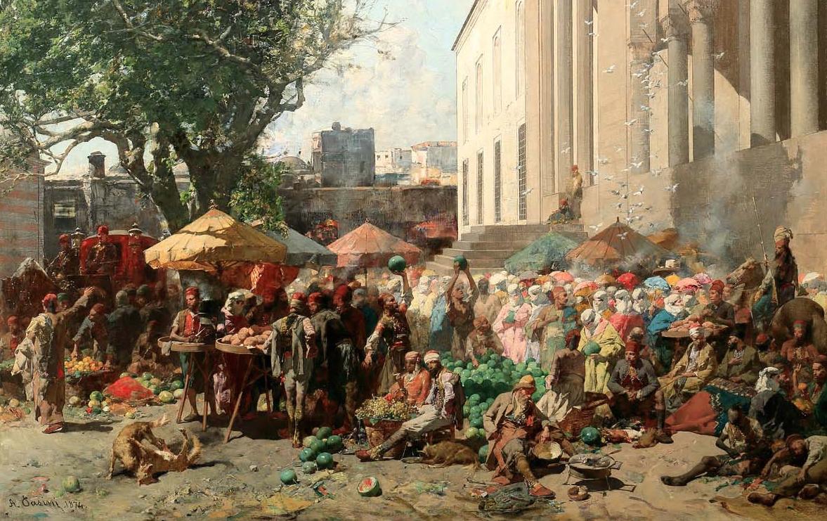 Alberto Pasini, Mercato a Costantinopoli