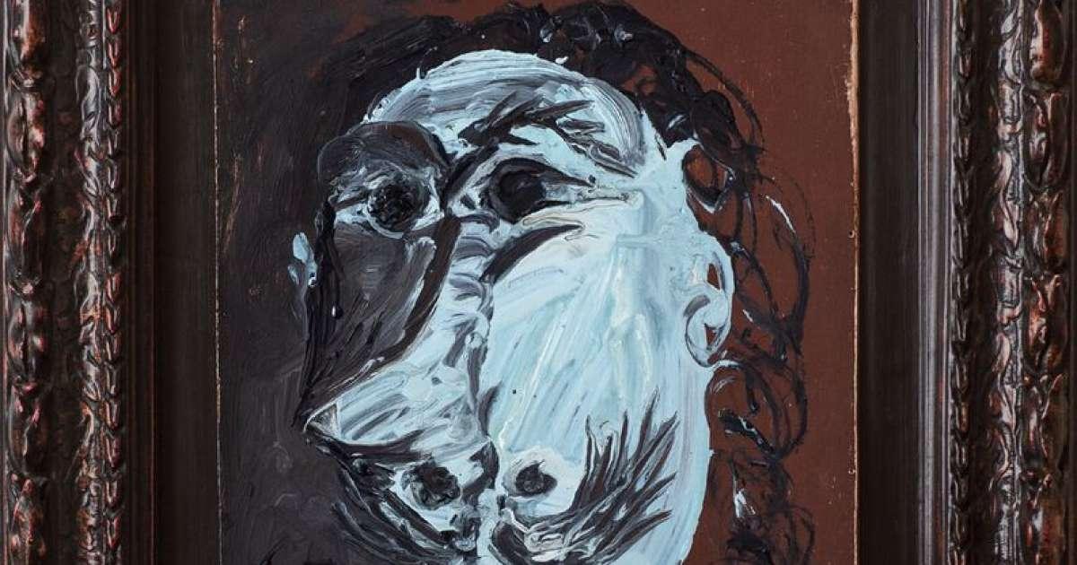 Un Particolare di Buste de mousquetaire di Pablo Picasso
