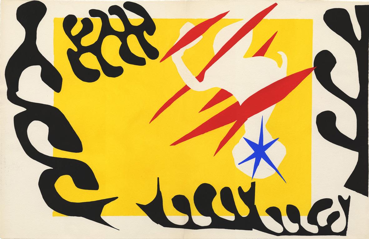 Henri Matisse, Jazz: Cauchemar clean, 1947. Stampa su stencil incollato su carta 425x238 mm