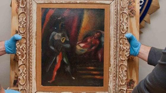 """Ritrovato un dipinto di Chagall rubato 30 anni fa. """"Troppo famoso, invendibile"""""""