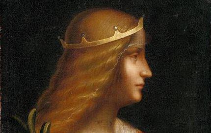 Isabella d'Este attribuita a Leonardo