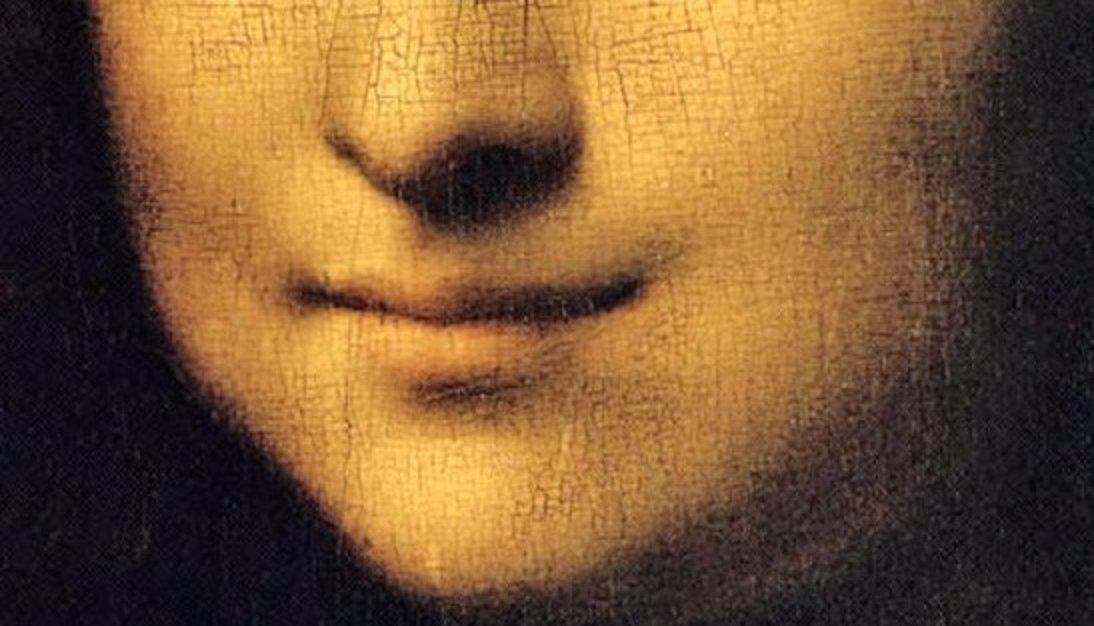 Un particolare de La Gioconda di Leonardo