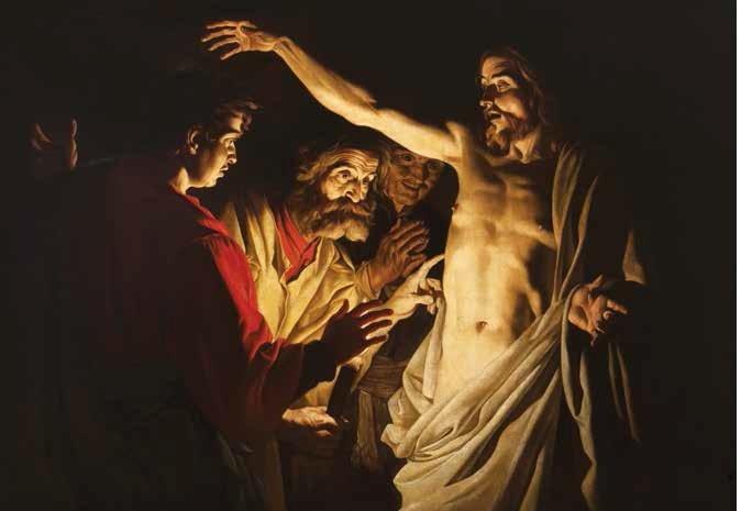 Matthias Stom (Paesi Bassi, 1600 circa – post 1645) Incredulità di San Tommaso 1630-1640 circa olio su tela, 121 x 172 cm Bergamo, collezione privata