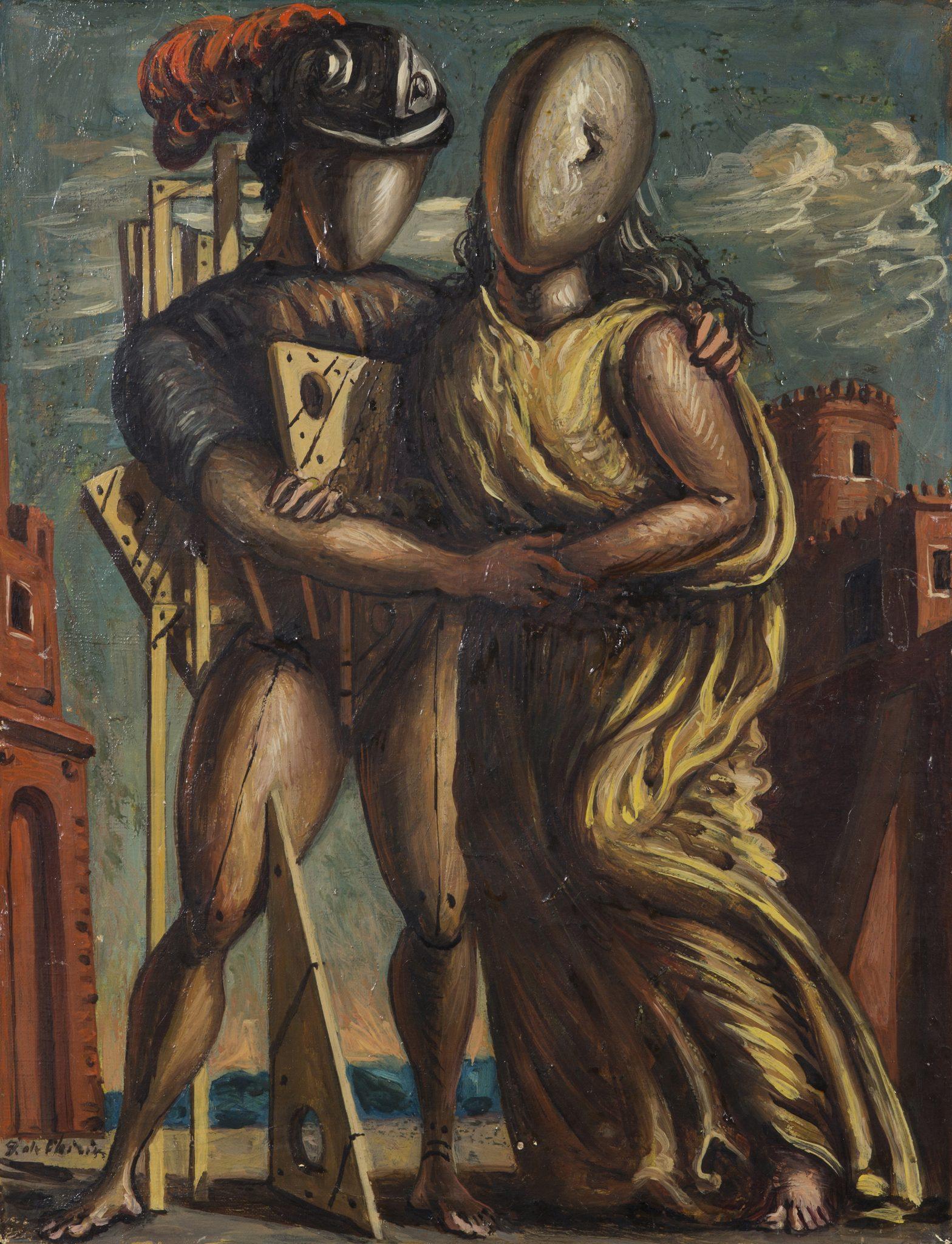 Lotto 314 (170747) Giorgio De Chirico (1888-1978) Ettore e Andromaca, 1955 olio su tela, cm 45x35 Stima € 230.000-280.000