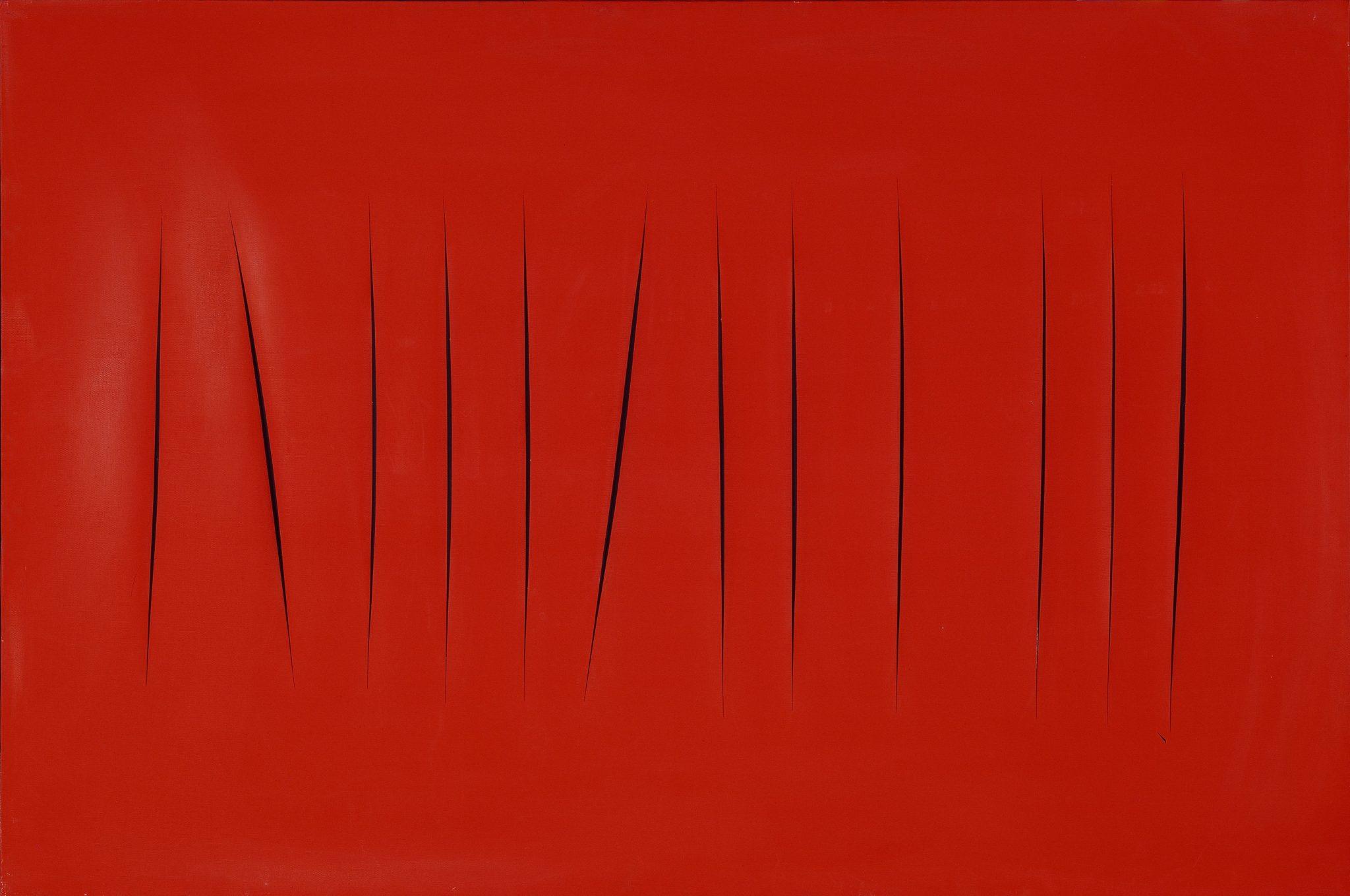 Lucio Fontana Rosario di Santa Fé 1899 - Comabbio 1968 Concetto spaziale. Attese, 1965 idropittura su tela, 130 x 195 cm Collezione Luigi e Peppino Agrati © Fondazione Lucio Fontana, Milano by SIAE 2018