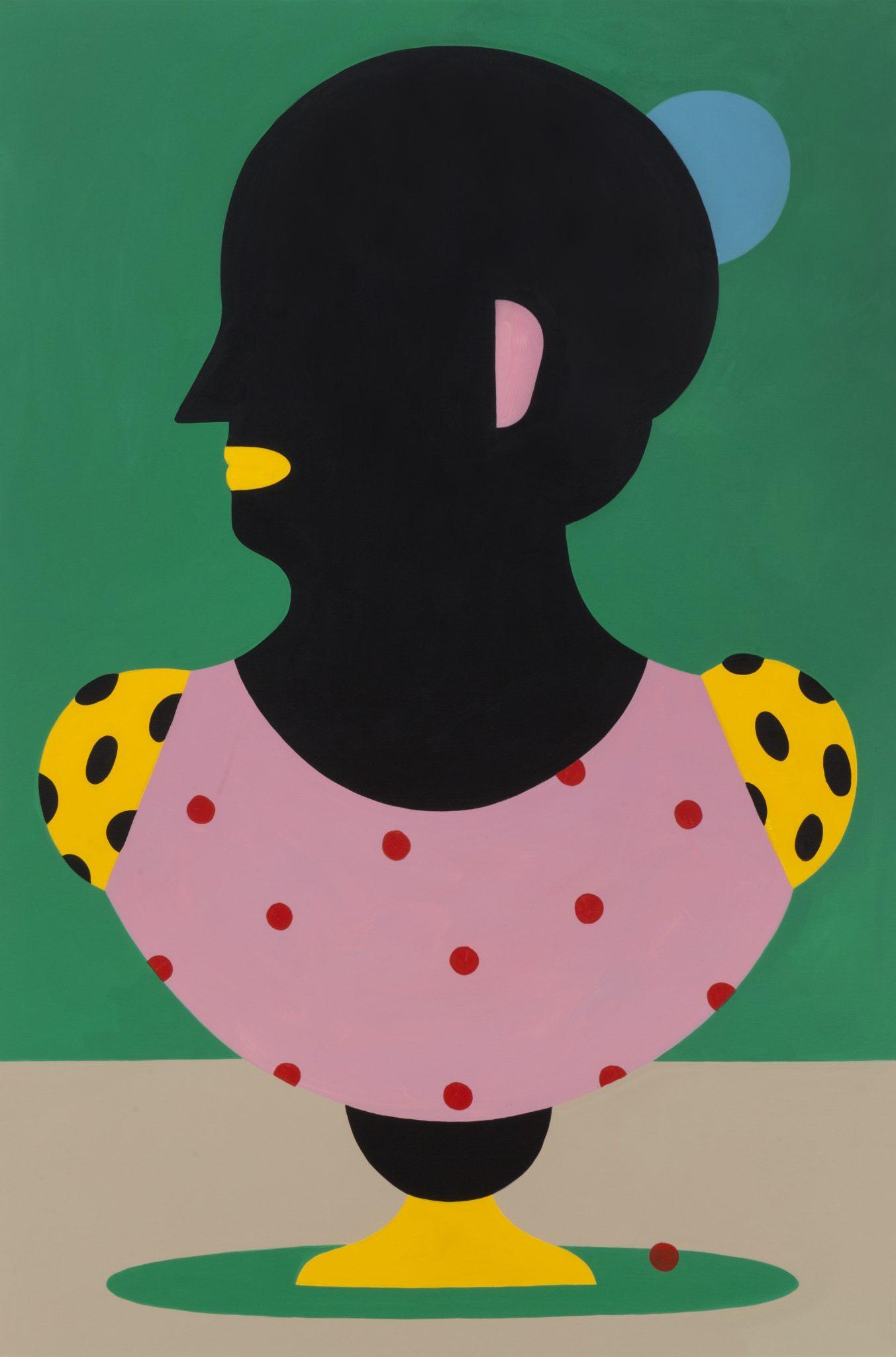 Agostino Iacurci, Bust n°3, 2018, acrilico su tela, cm 150x100 | Photo: Lorenzo Palmieri, Courtesy: M77 Gallery