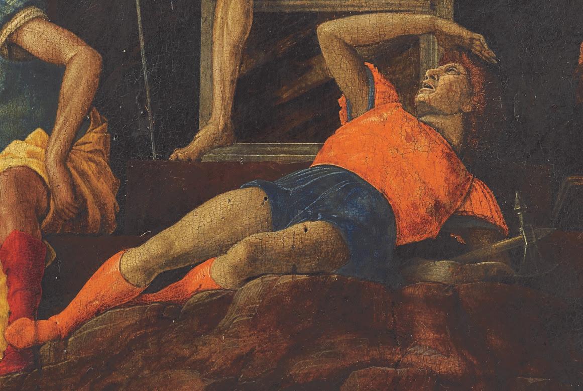 Andrea Mantegna, La Resurrezione di Cristo, 1492-93, Accademia Carrara Bergamo (dettaglio)