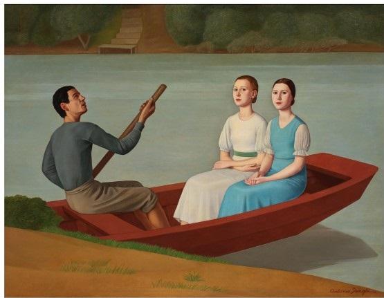 Antonio Donghi Gita in barca, 1938